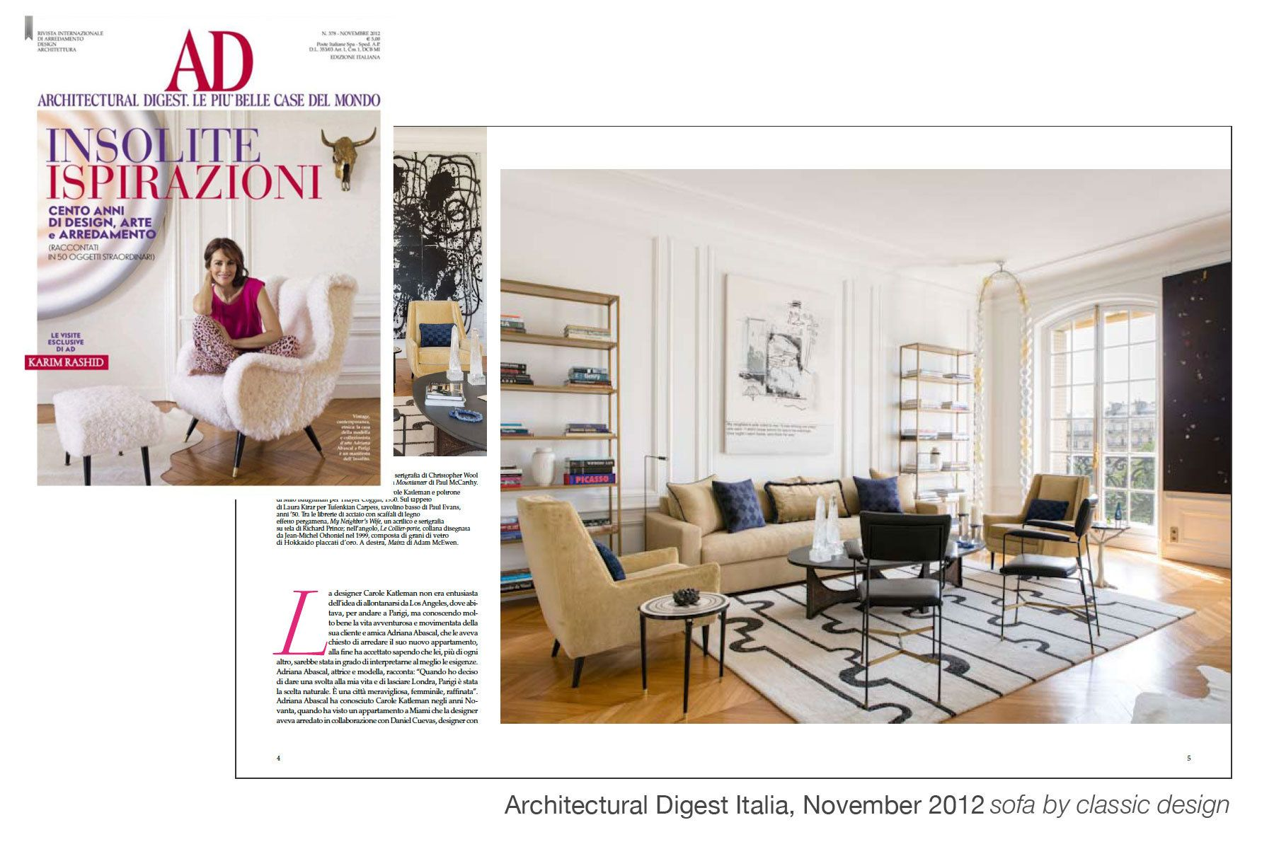 Architectural Digest Italia, November 2012
