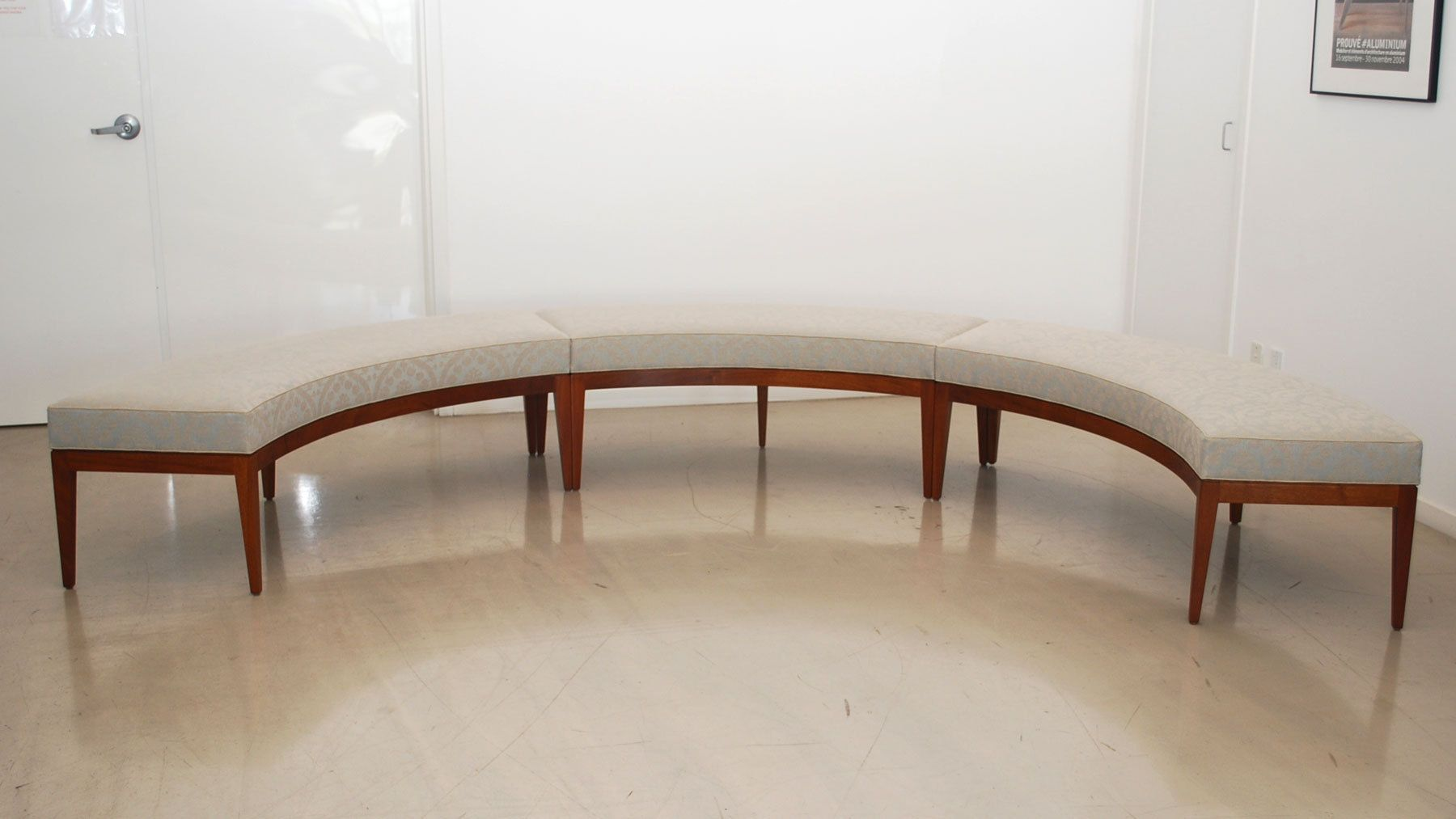 Custom curved window bench