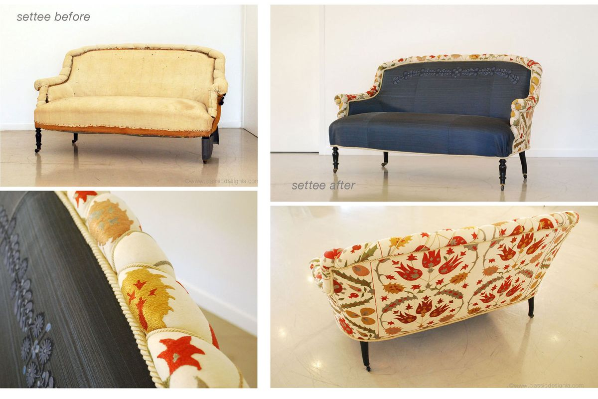 Restored & Reupholstered 19th Century French Settee