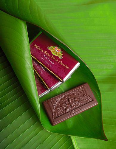 dole chocolate bars on leaf