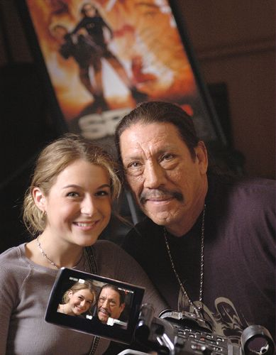 Danny Trejo and Alexa Vega from Spy Kids