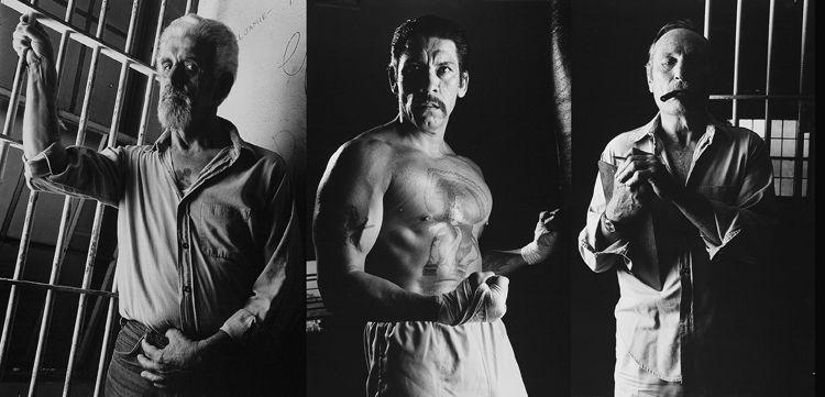 George Perry, Danny Trejo, Eddie Bunker-tryptich