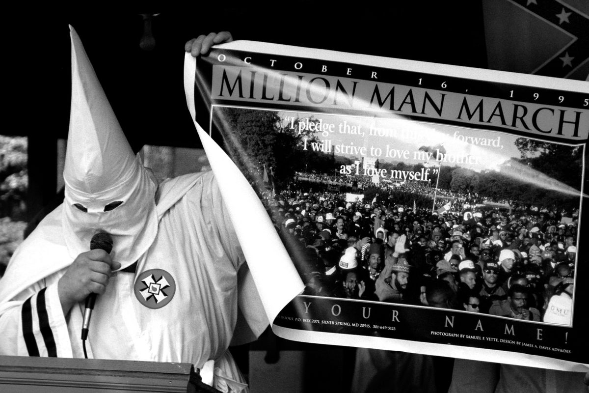 Invincible Knights of the Ku Klux Klan public rally. Thurmont, Maryland 1996