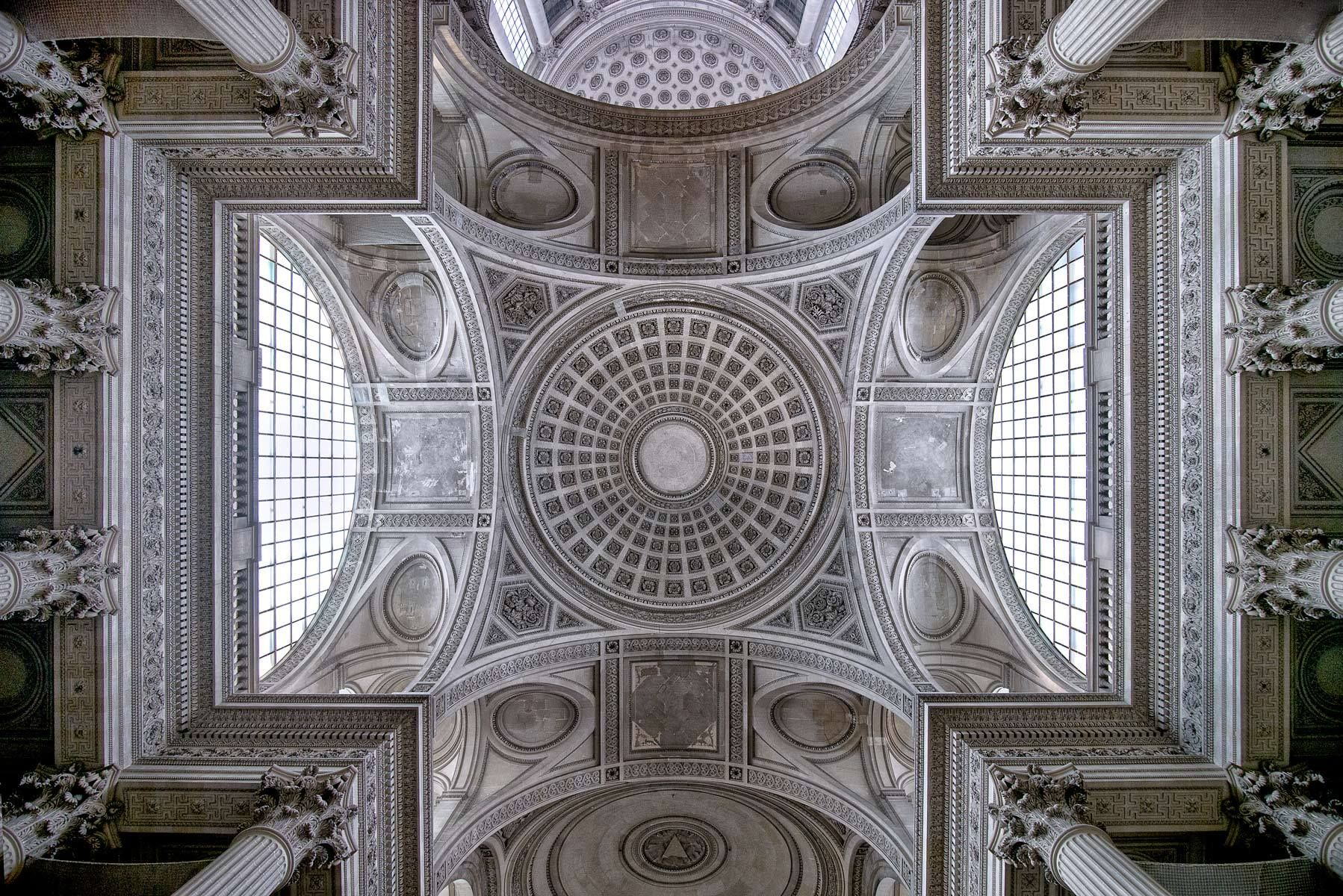Ceiling Detail of the Pantheon, Paris, France