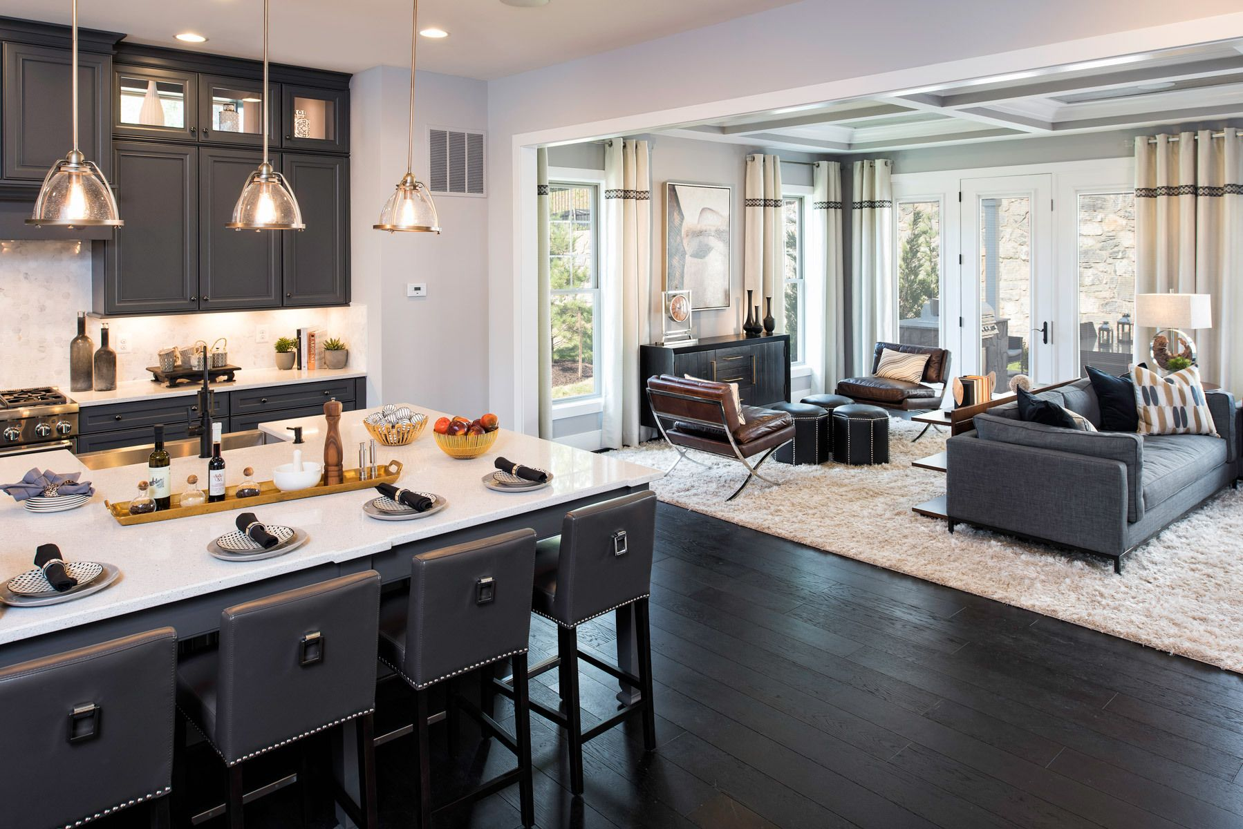 Camberley Homes at Potomac HighlandsInterior Design by Laura Bendik