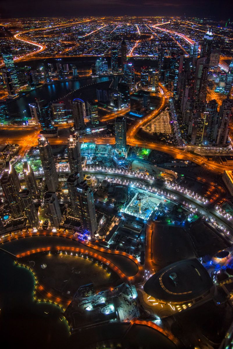 Dubai, UAE - View from the top of the Burj Khalifa