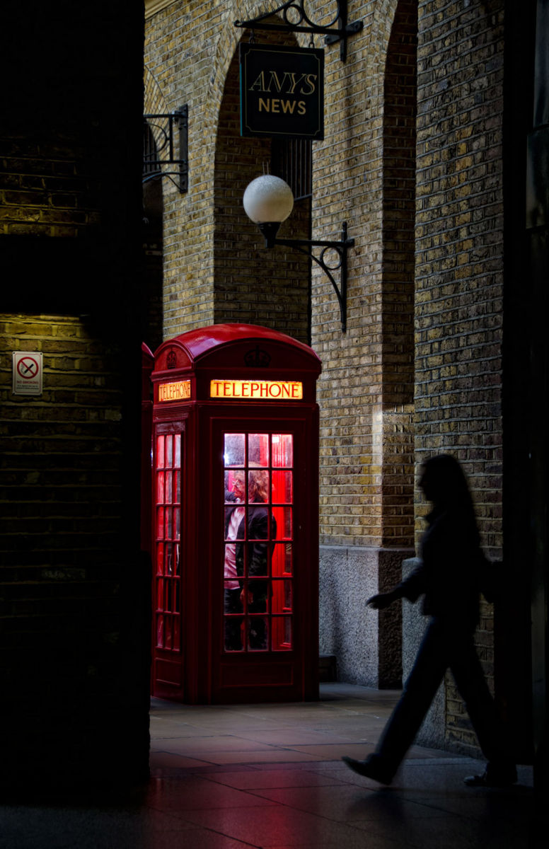 London Phone Booth at night