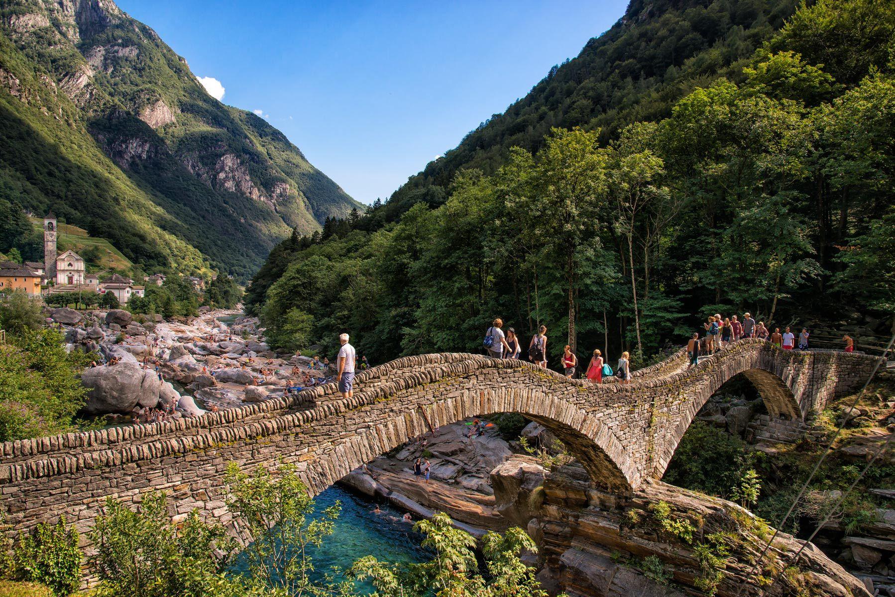 The road to Sonogno, Ticino Region, Switzerland
