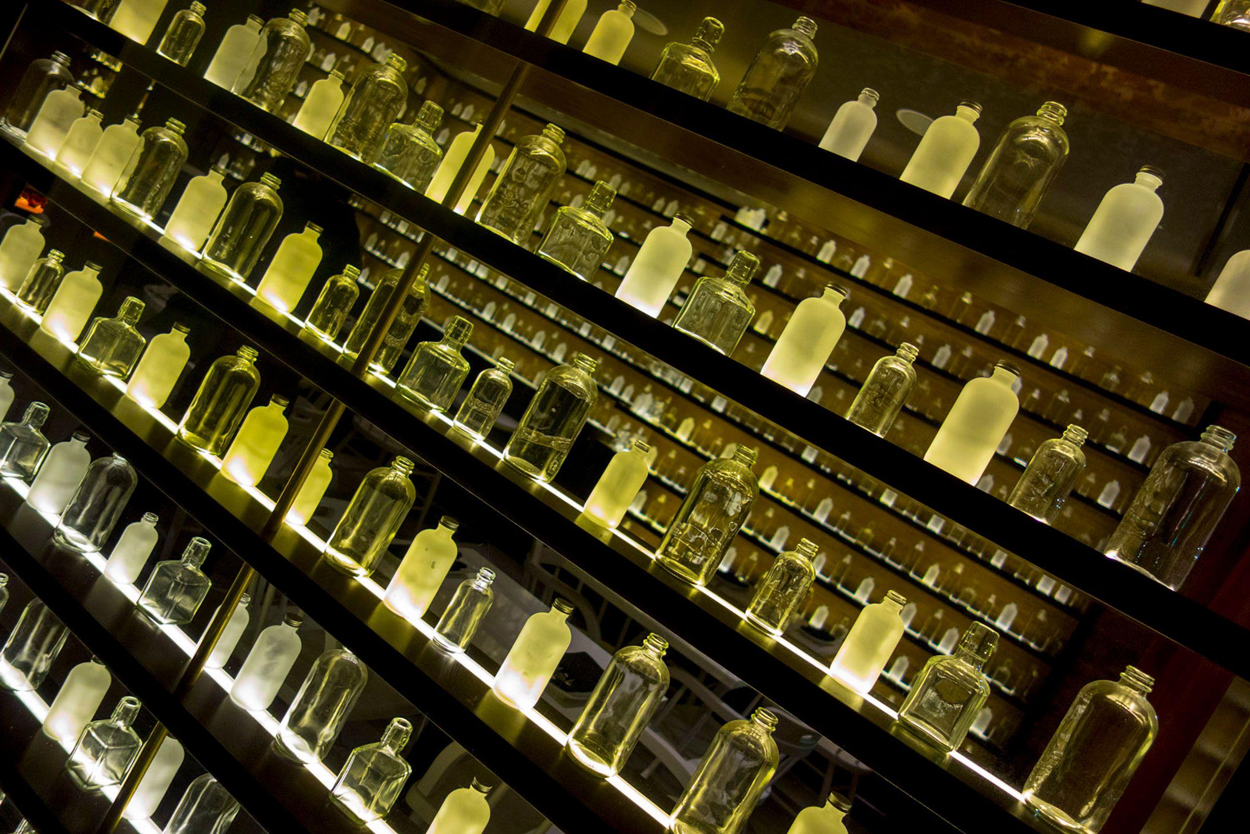 Bottles in a window Orleans Louisiana NOLA
