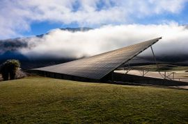 solar panels at winery in new zealand