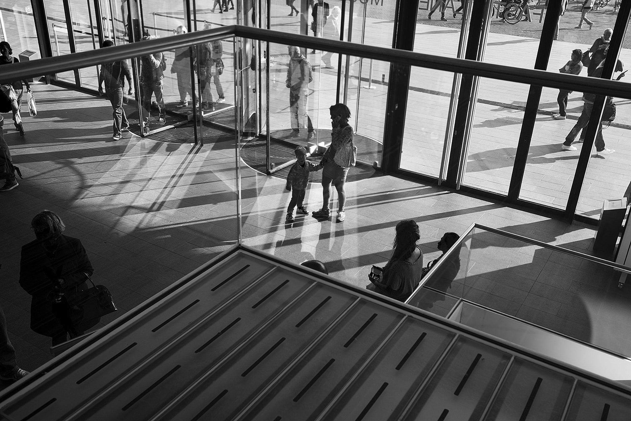 B&W of lobby Stedelijk Museum Of Modern Art Amsterdam