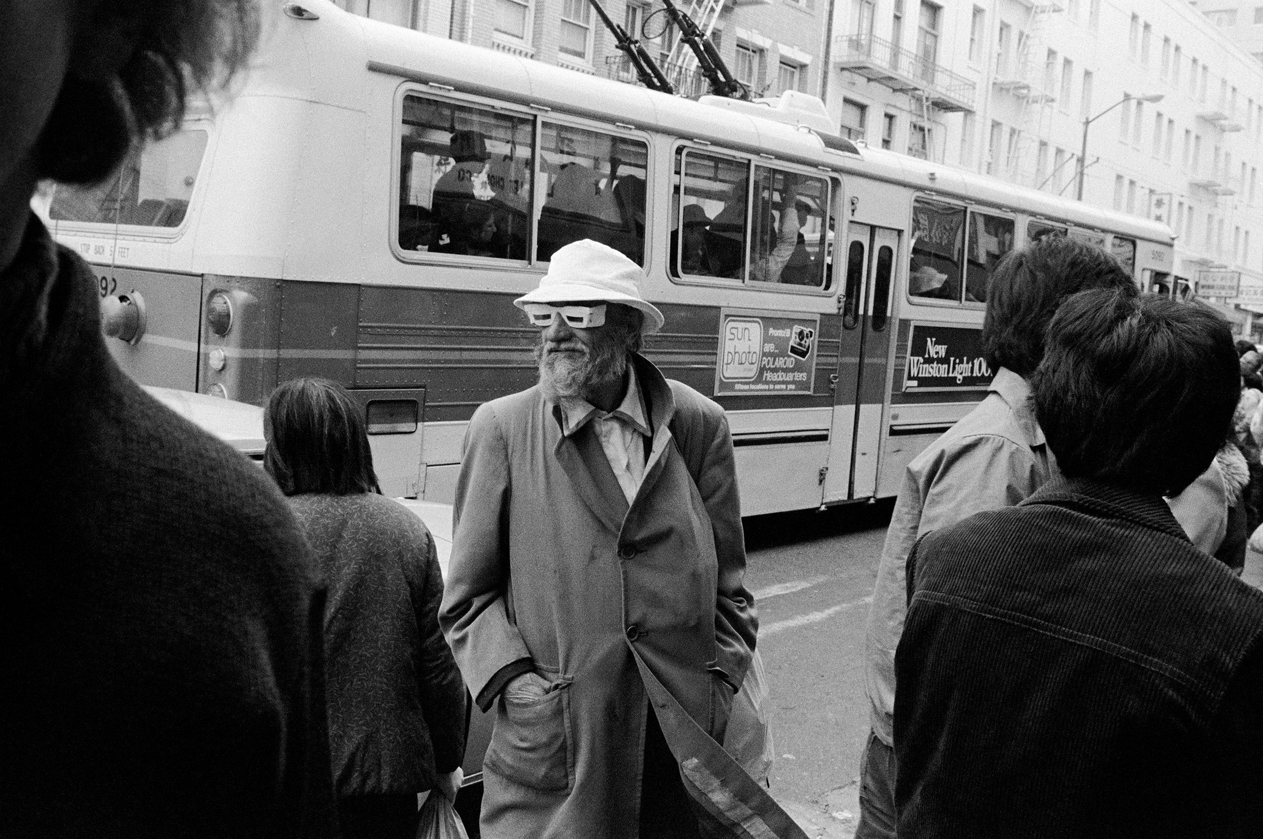 homemade glasses B&W street photography 1970 nineteen  seventies
