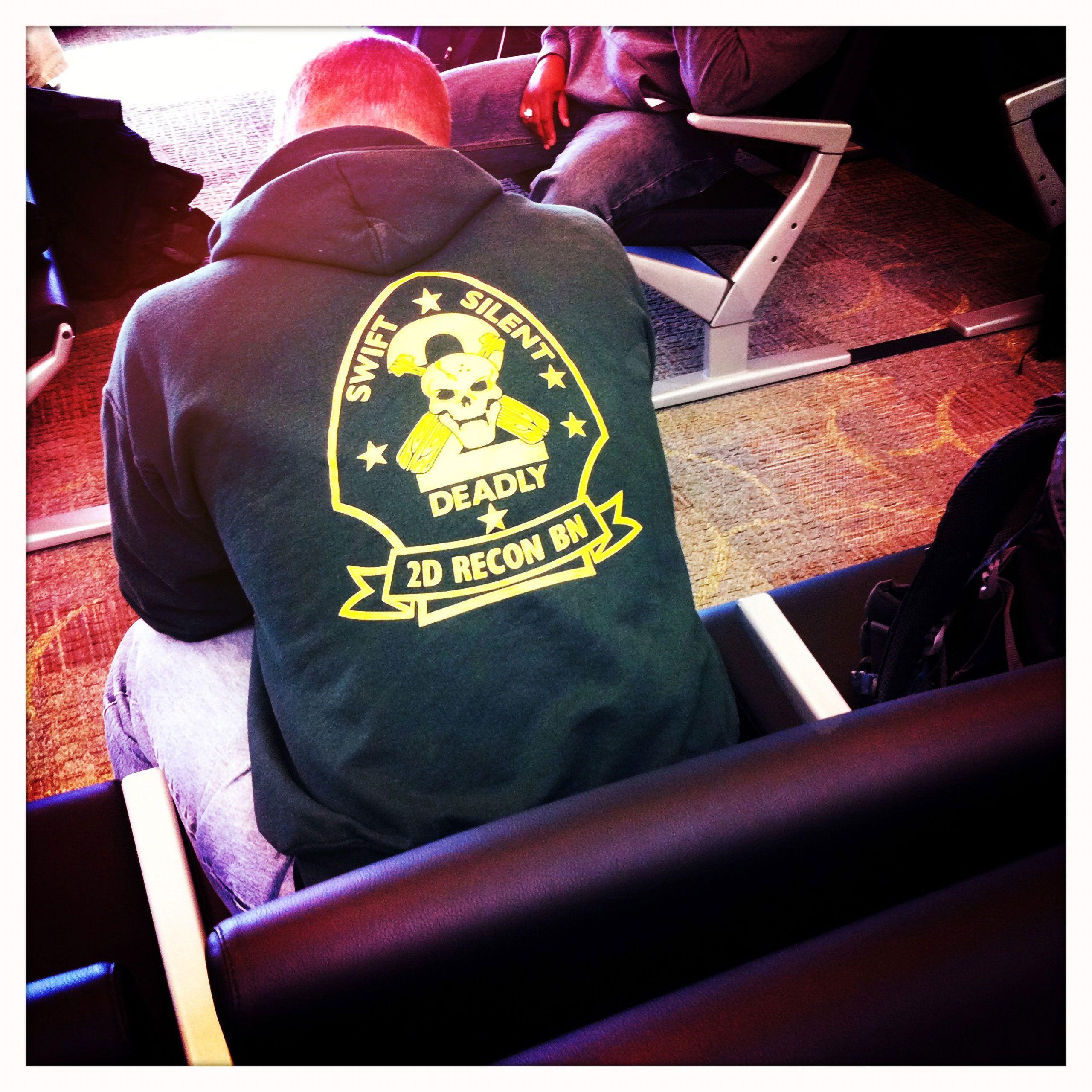 2nd Reconnaissance Battalion hoody Swift Silent Deadly