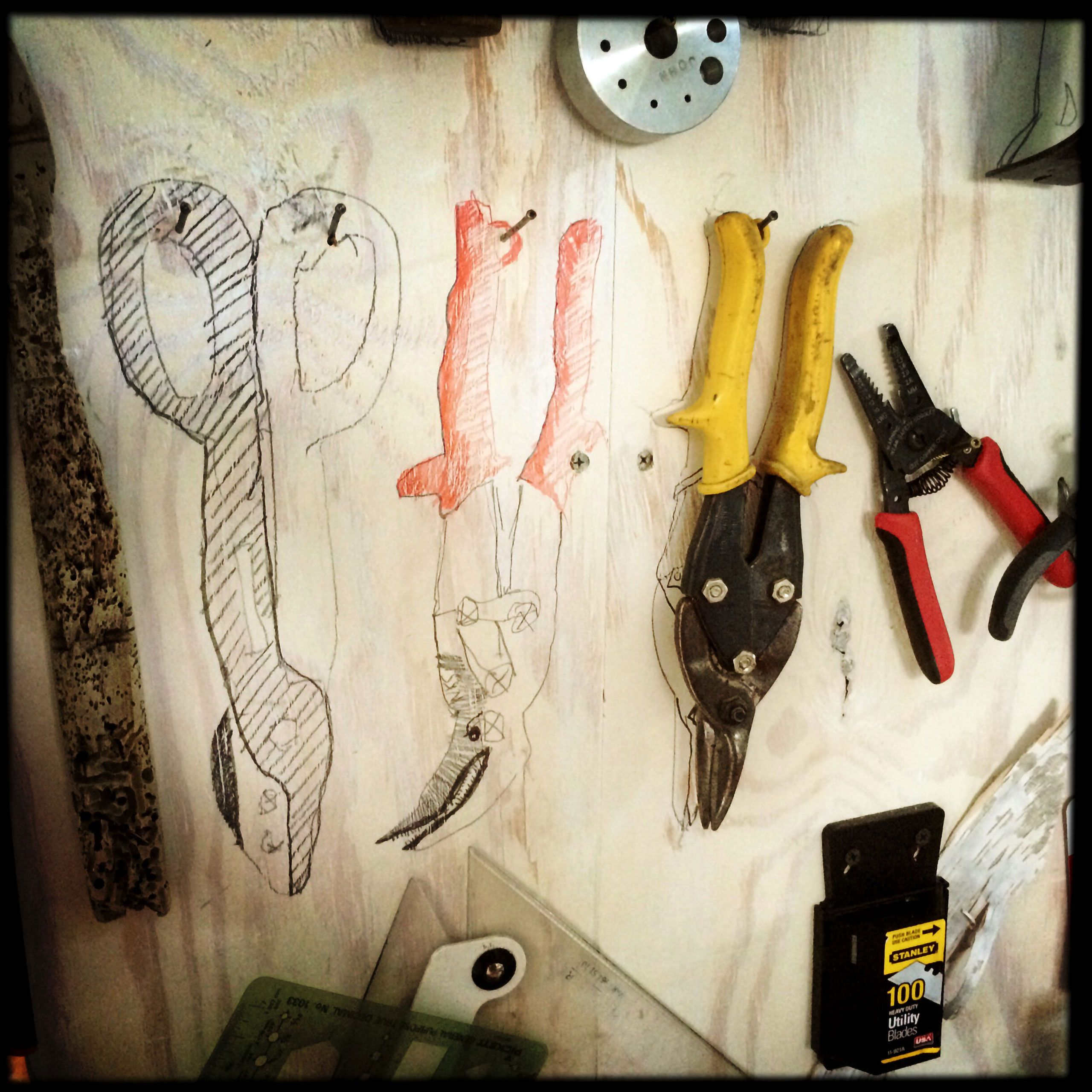 tools on wall Joe Hemes