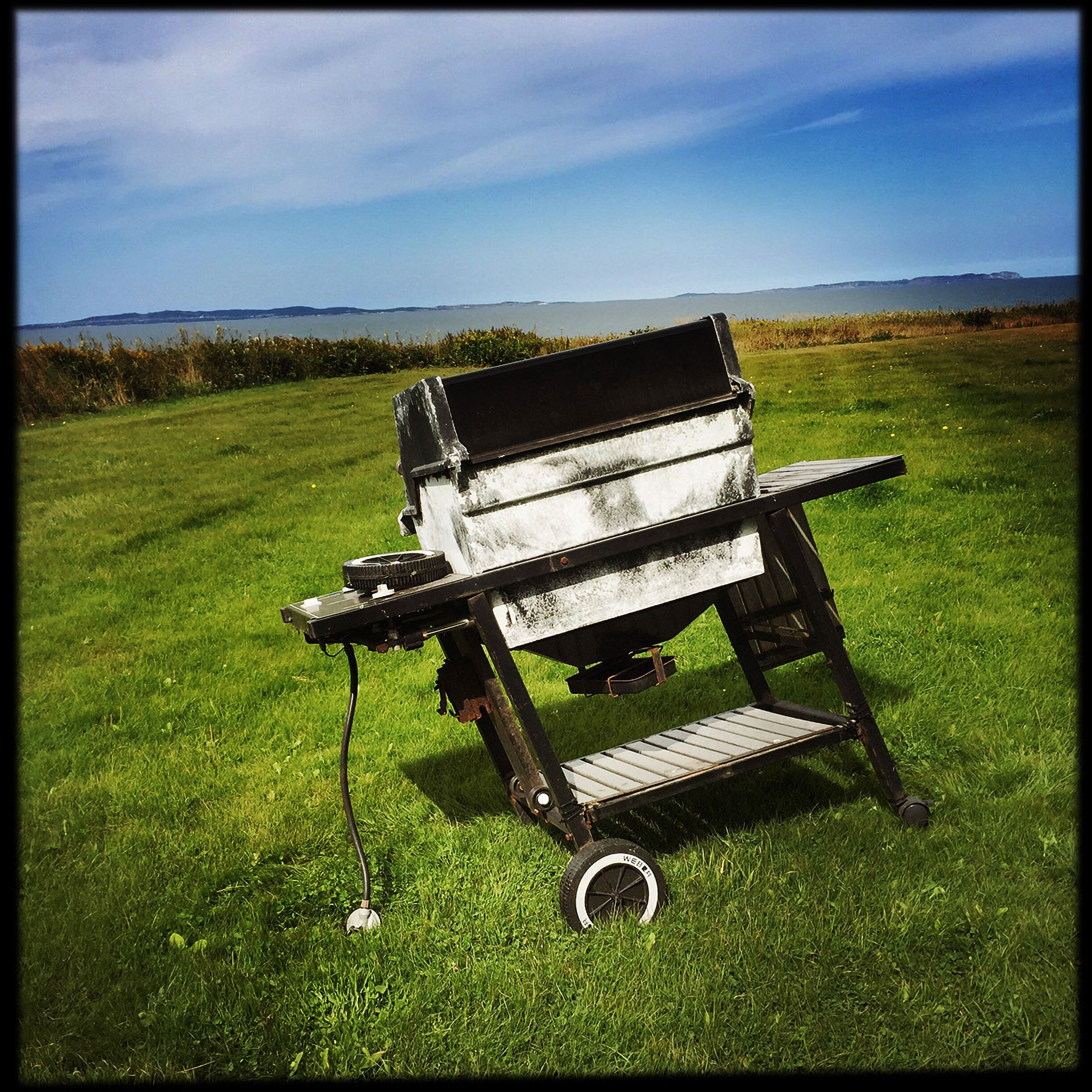 the last of the gas grill in  Magdalen Islands Îles de la Madeleine Quebec Canada  Harve Aubert