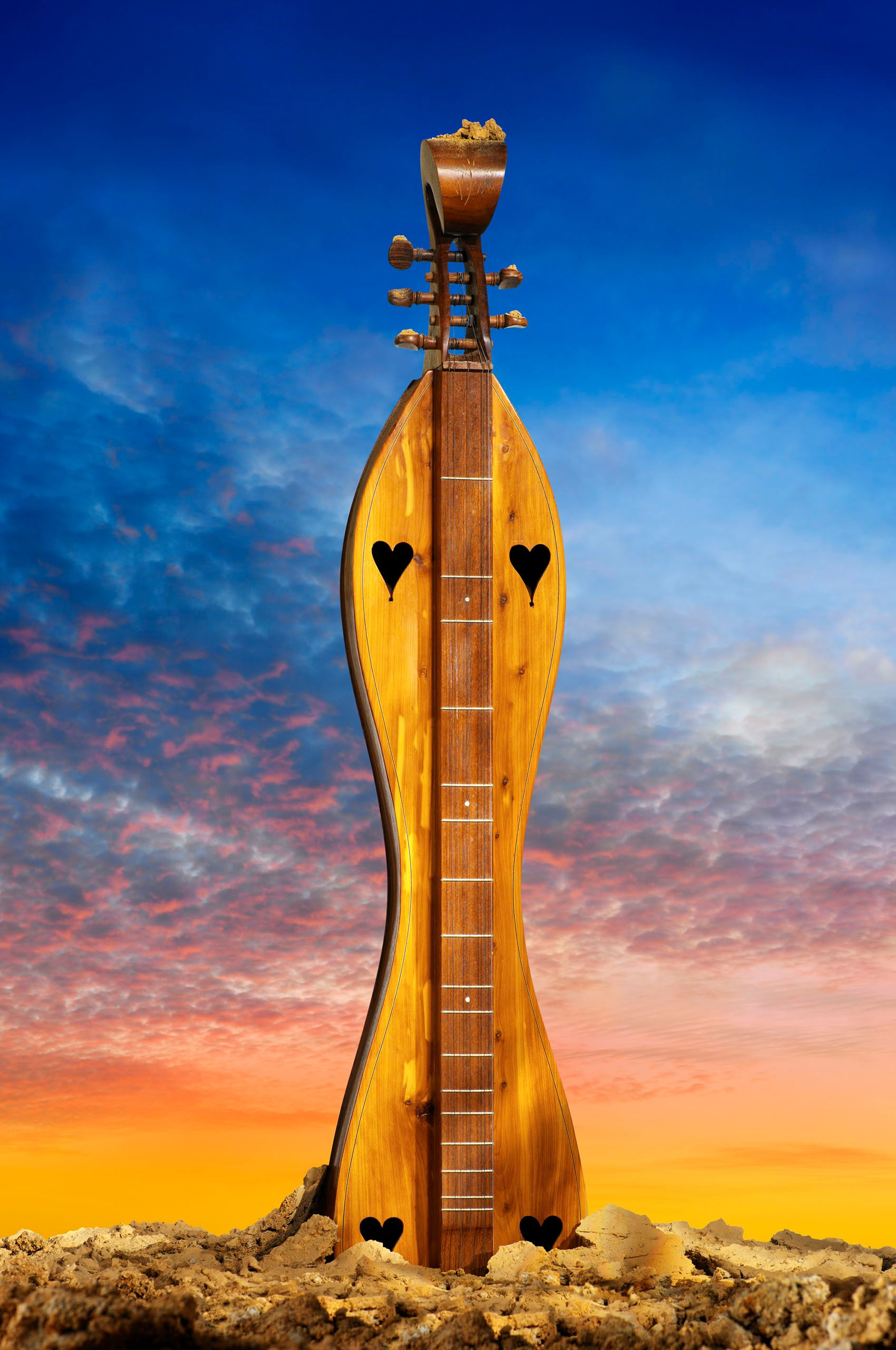 Dulcimer at sunset