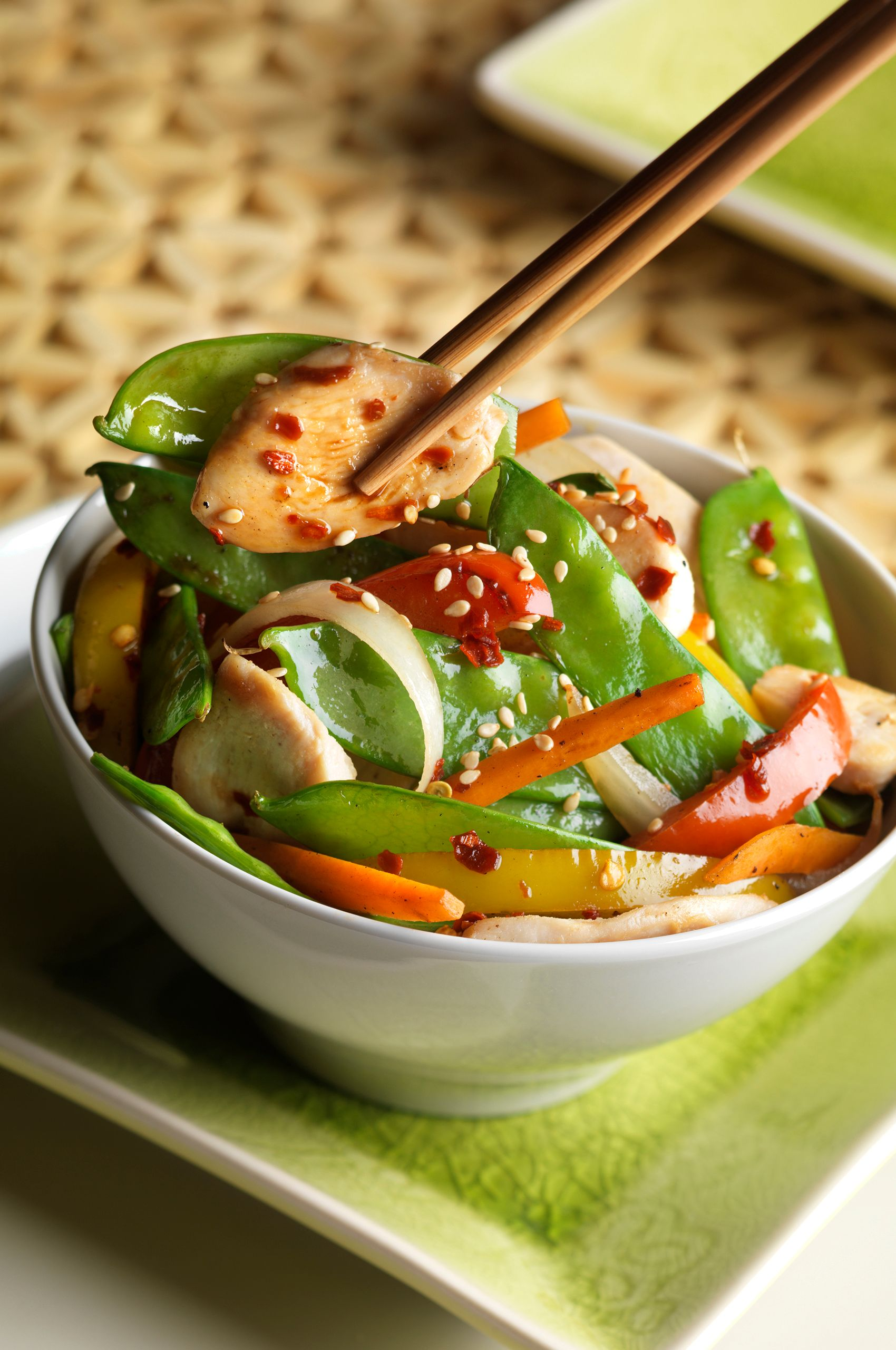 Stir-fry Veggies with Chicken