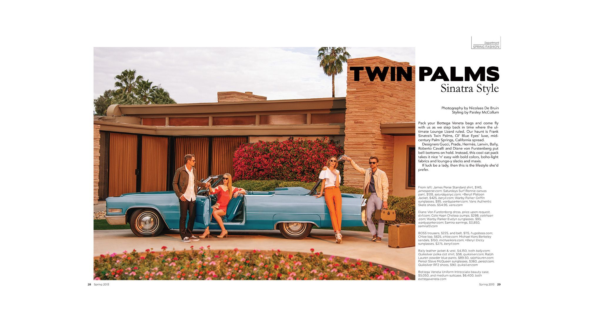 twin palms sinatra residence editorial photoshoot by fashion photographer nicolaas de bruin