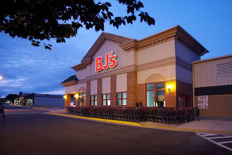 Dusk view of BJ's Warehouse