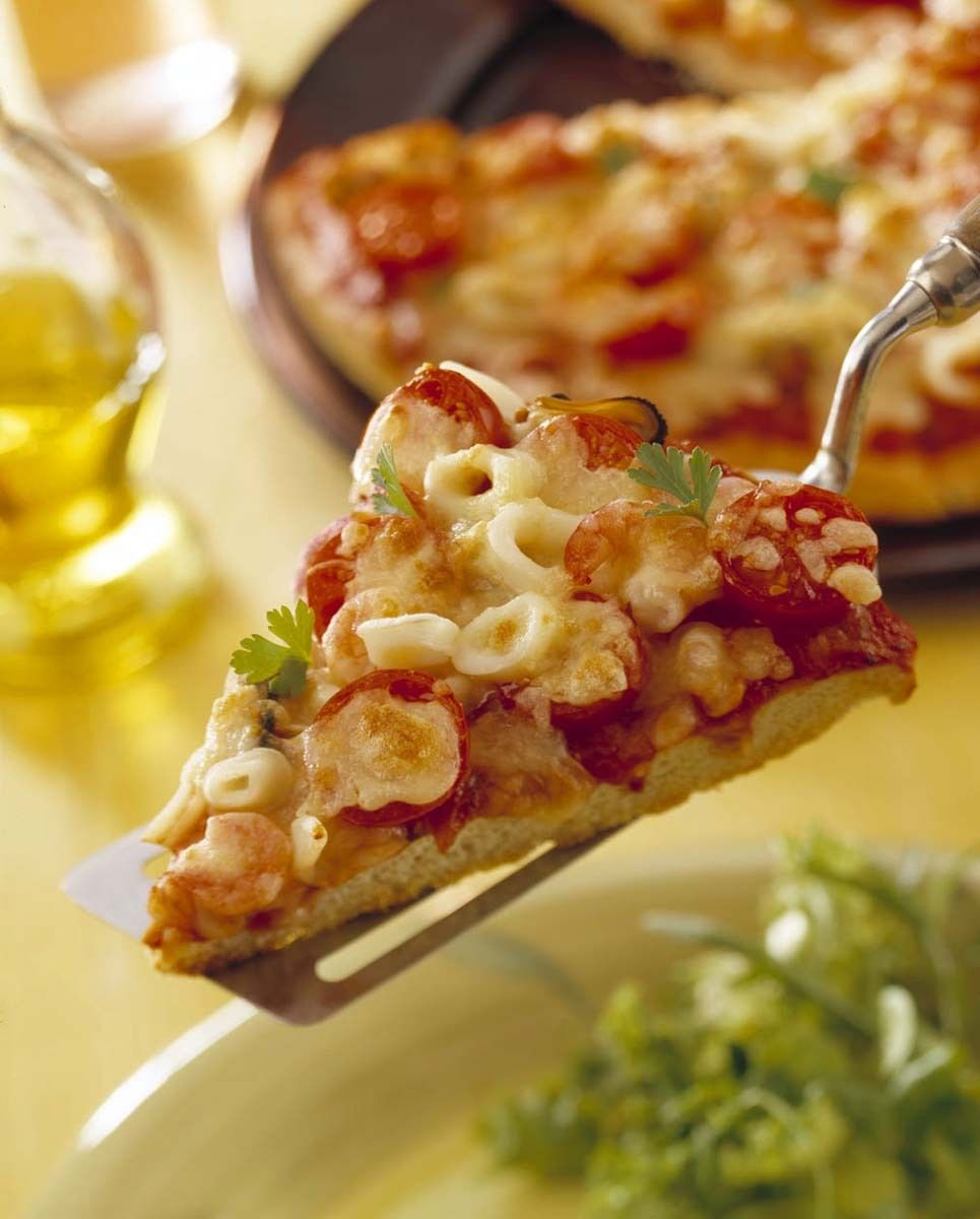 Seafood Pizza.
