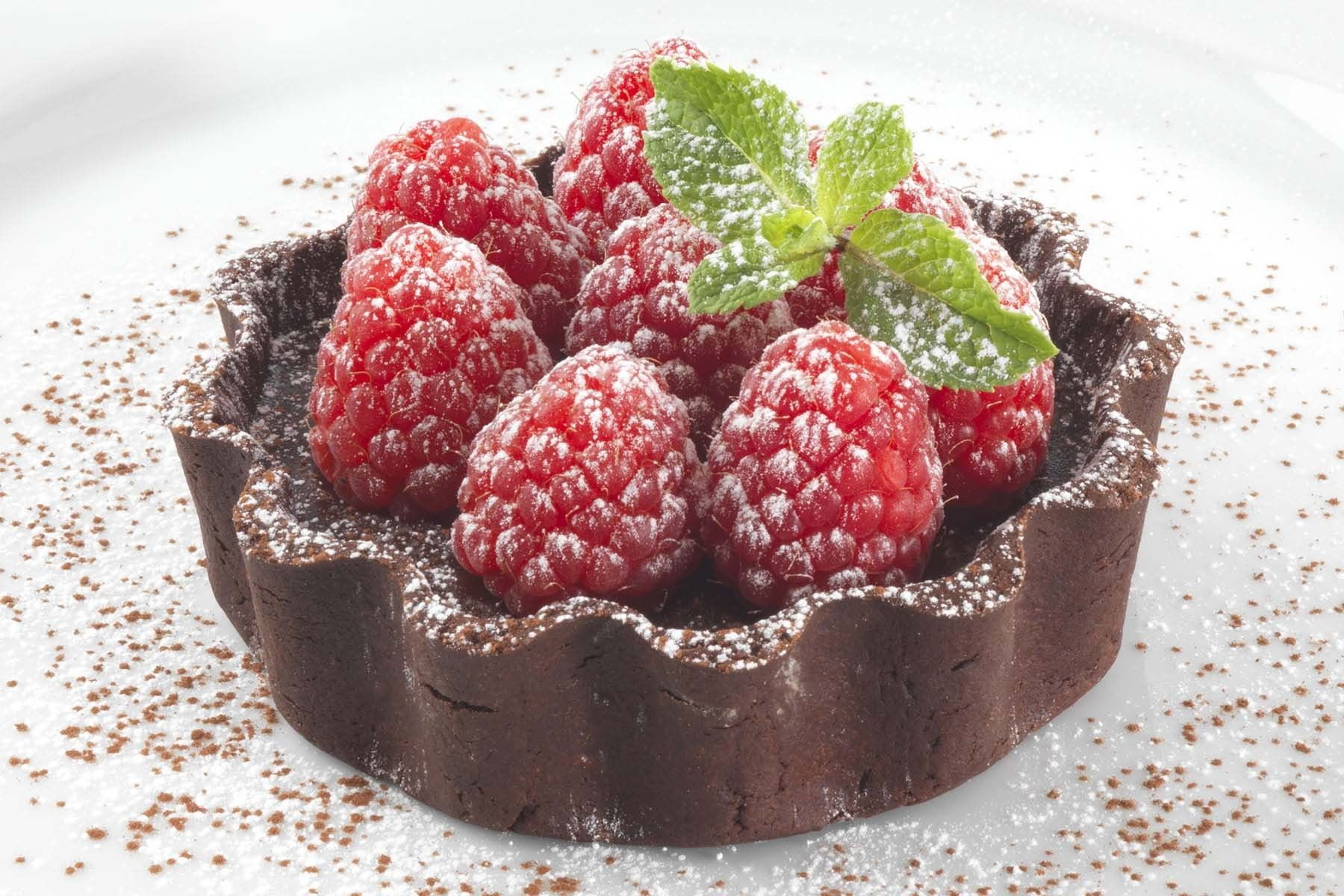 Raspberry and Chocolate Tart.