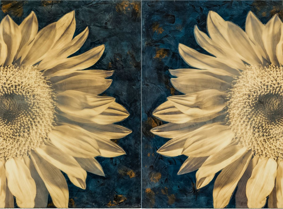 """Mirrored, 73""""x53"""" (diptych), PhotoEncaustic SOLD"""