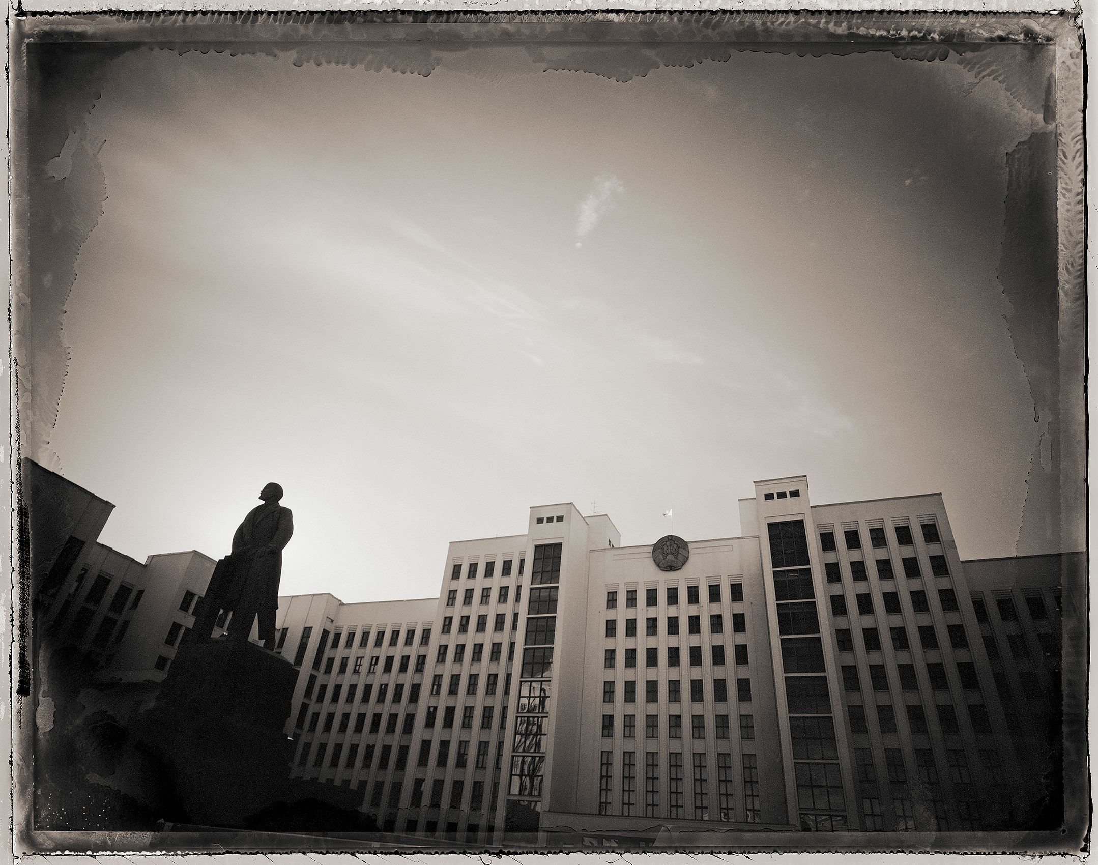 Lenin and the House of Government, Minsk, Belarus