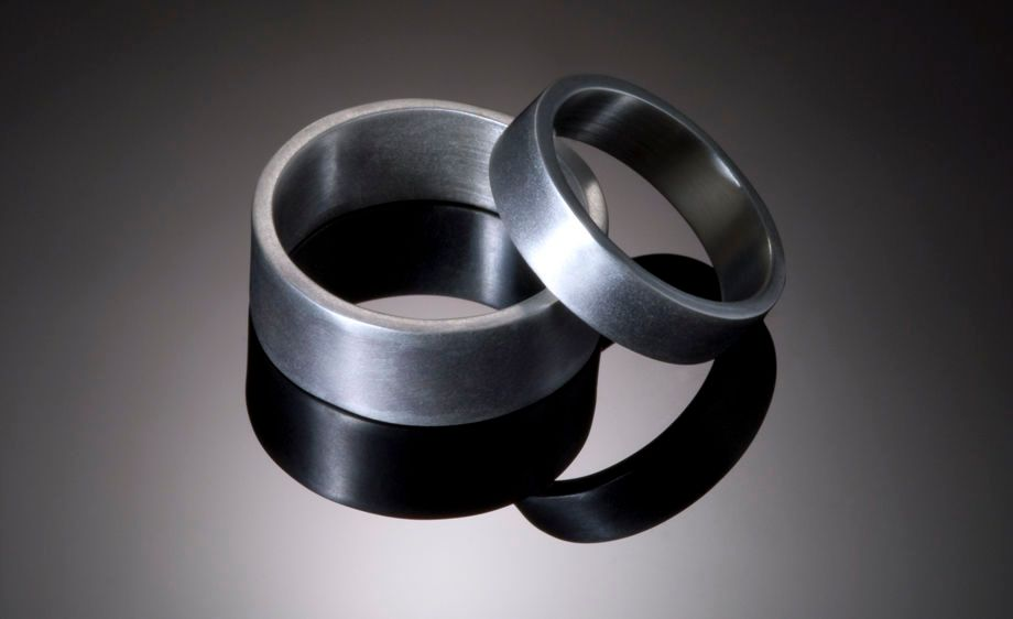 Matte Textured Sterling Silver Bands