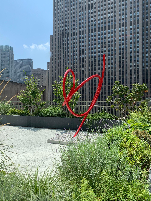 MIdtown Oasis- Sculpture on 17th Floor Garden  for Law Firm