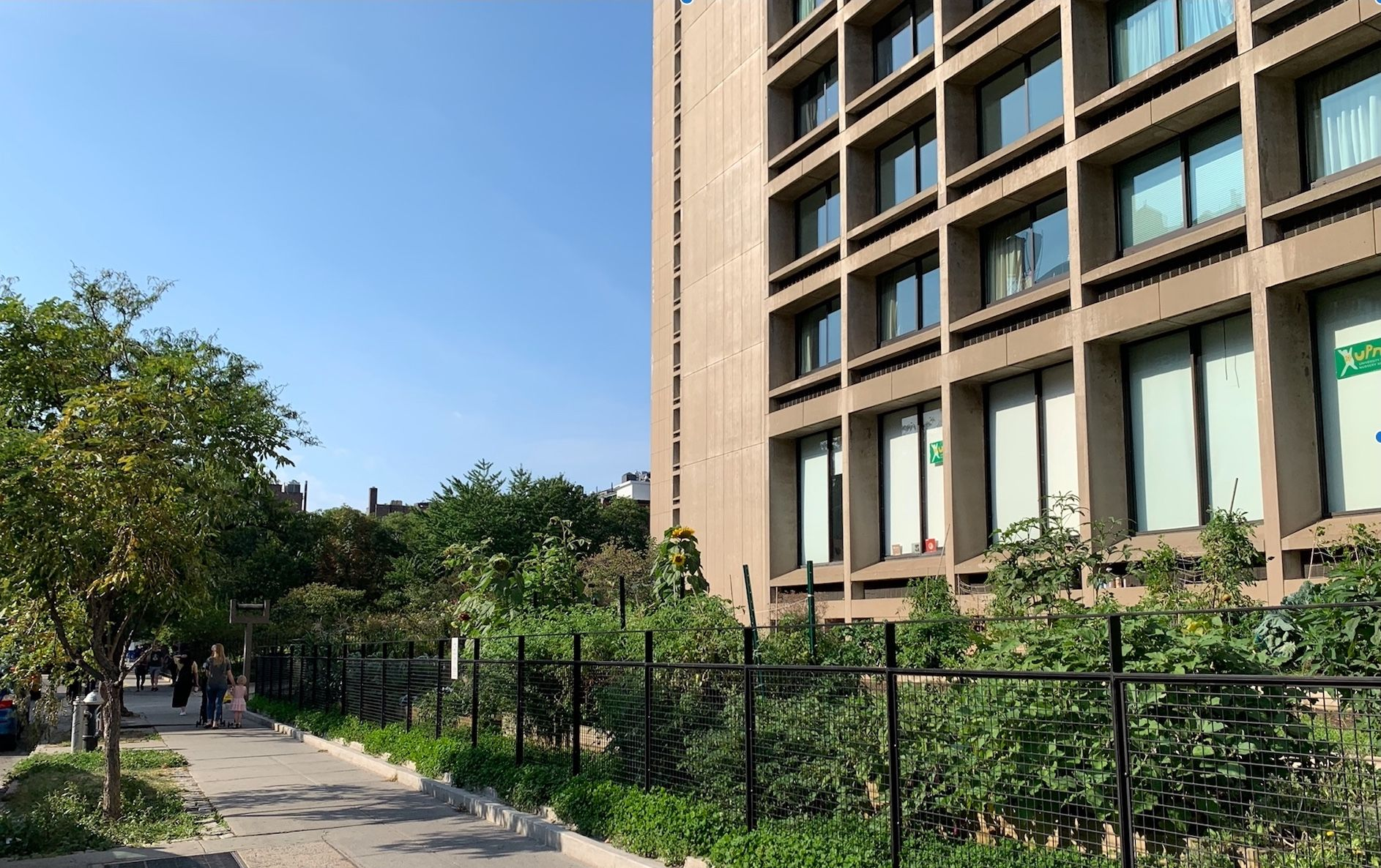 NYU - Organic Garden at Landmarked Towers by I.M.Pei