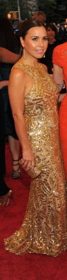 Monique L'Huillier at the Met Gala