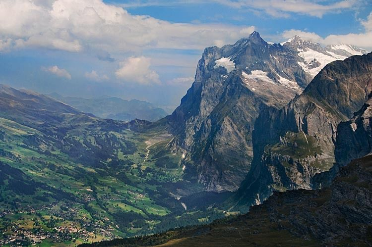 Grindelwald Valley and Wetterhorn Mountain