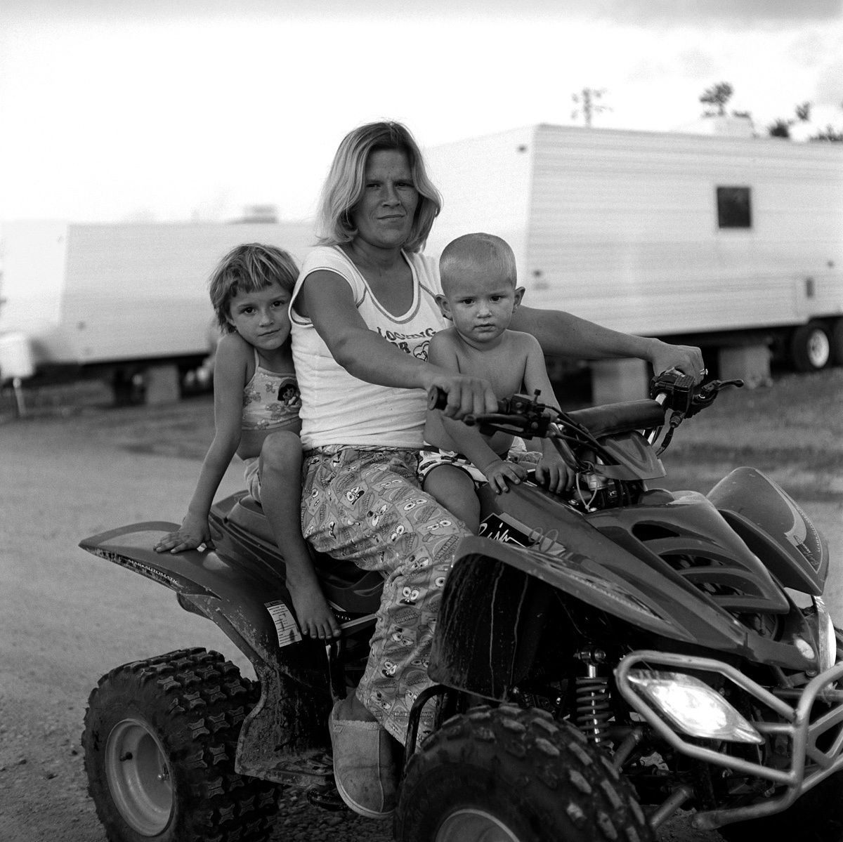 Family on Quad Bike, Diamond, LA 2006
