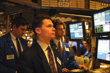 man in the pit in the NY Stock Exchange