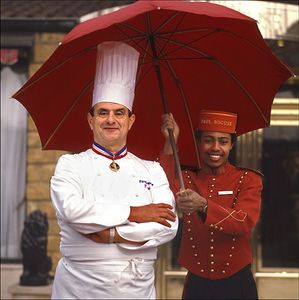 Paul Bocuse under Umbrella
