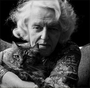 Gladys Jones and Cat