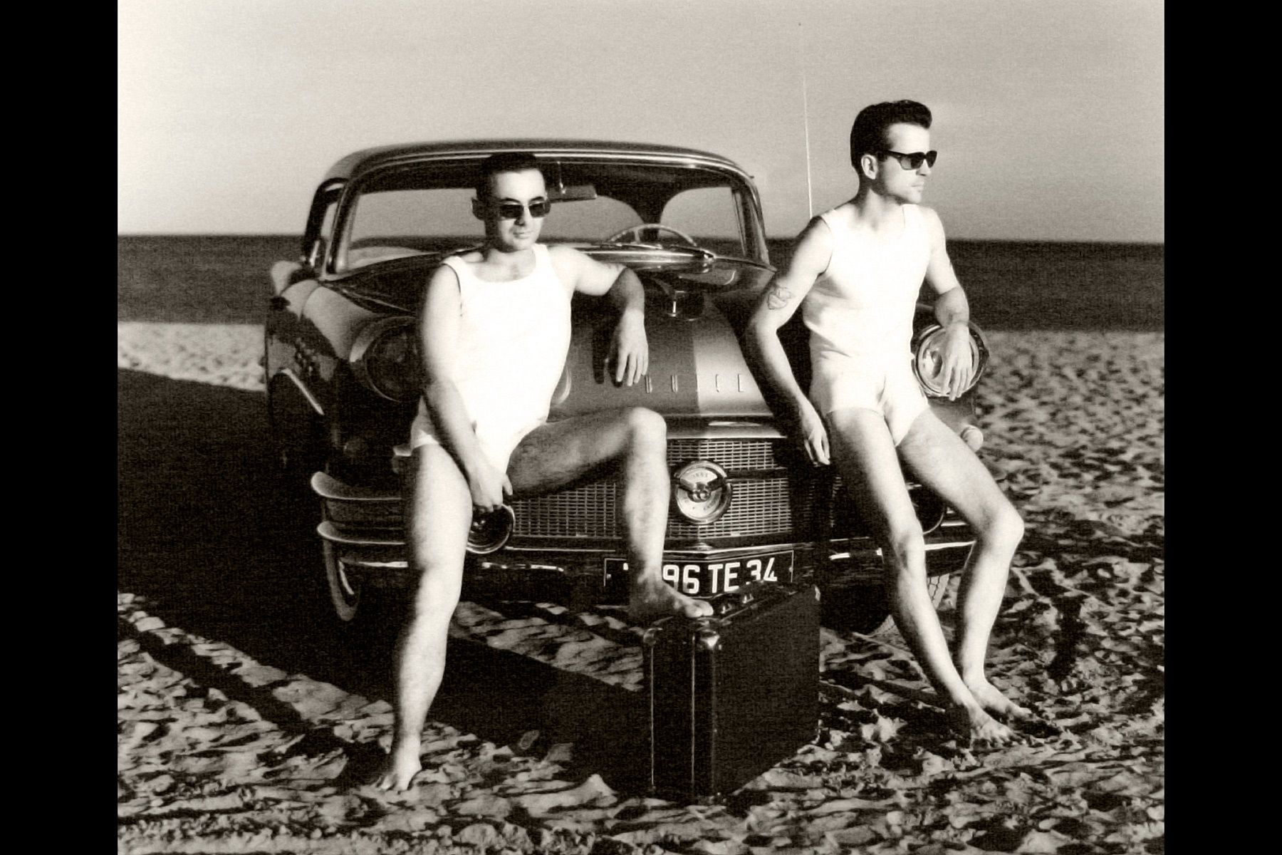 Bene and Christian on The Beach Buick 56 Serignan France