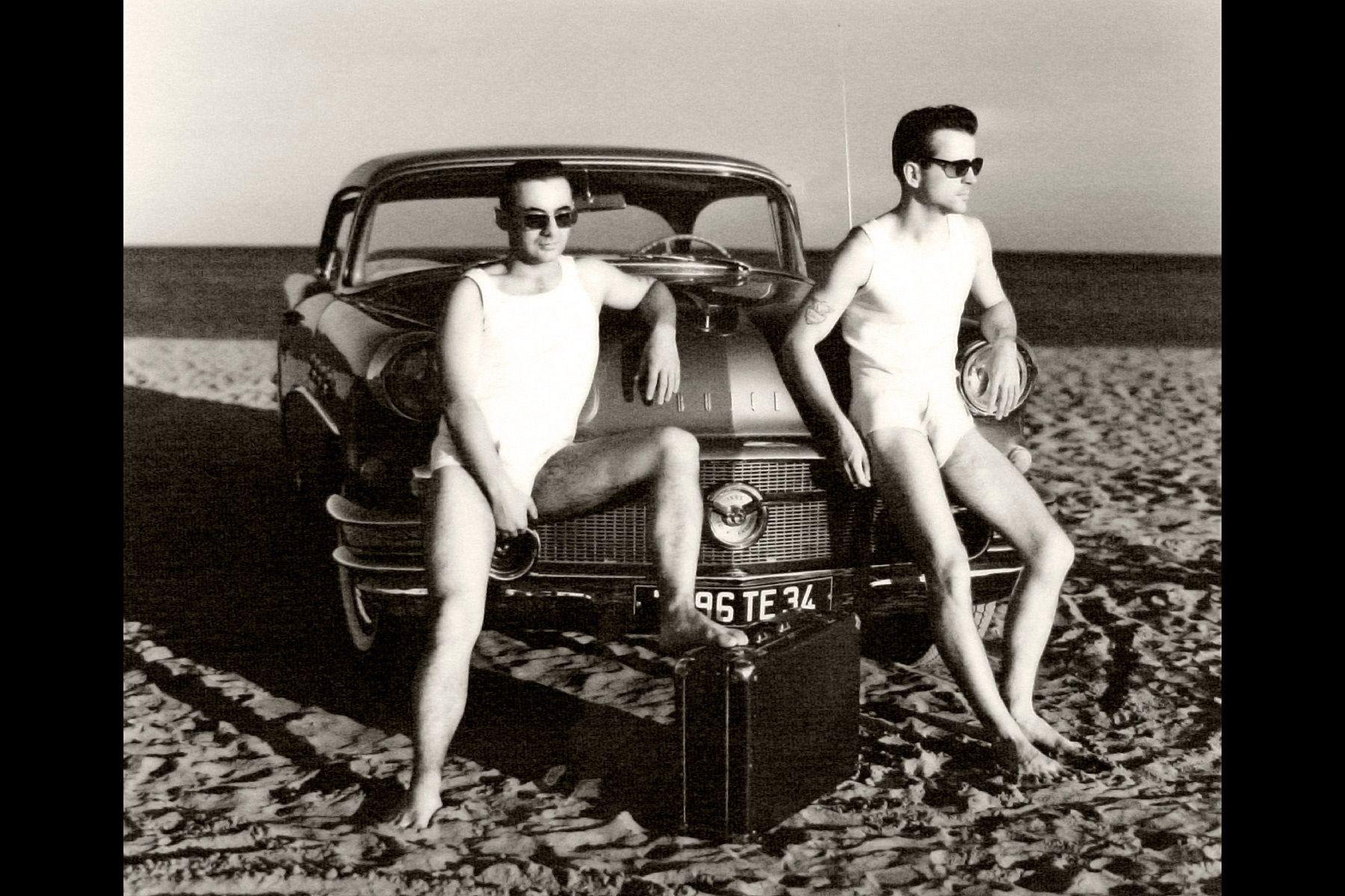Bene and Christian on The Beach Buick 56 Serignan France