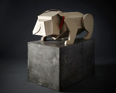 Loran Thrasher Prop Fabrication Cardboard Dogs