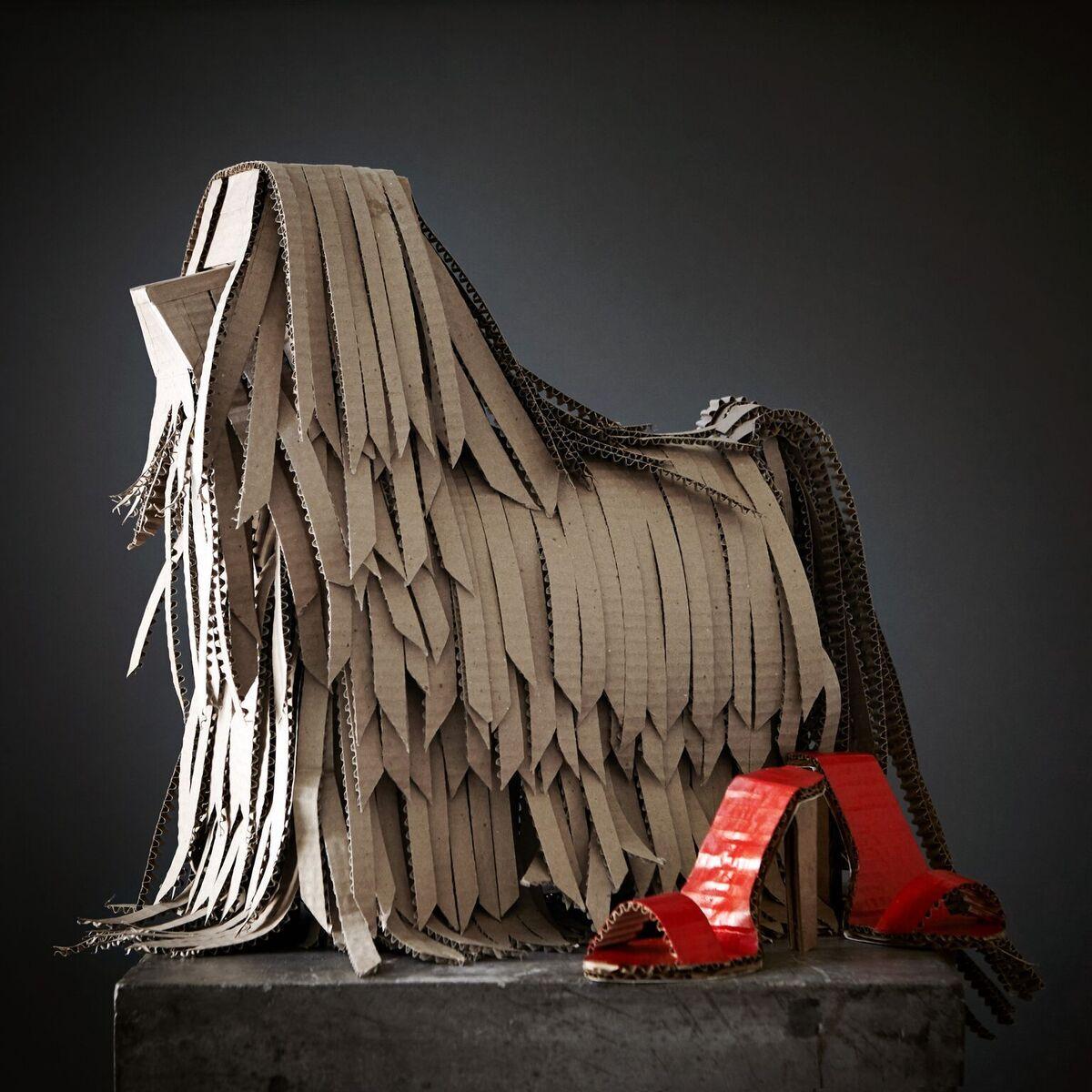 Loran Thrasher Prop Fabrication Cardboard Dogs