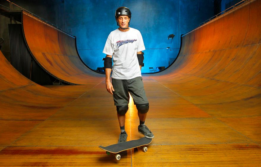 Skateboarding legend Tony Hawk