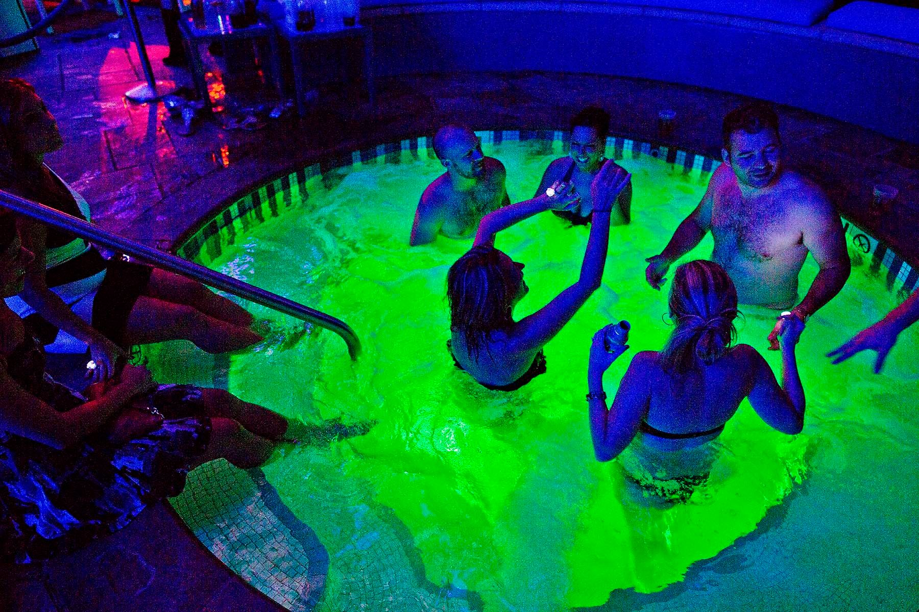 The Pool a nightclub at Harrahs resort casino with a party host by girl next door playmate bunny Kendra Wilkinson