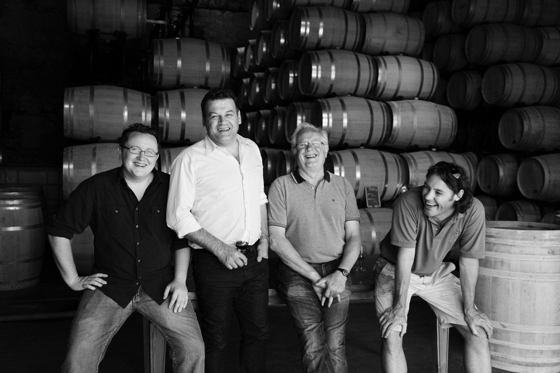 Laithwaites Wine - Le Chai au QuaiTom Laithwaite, Jean Marc Sauboa, Tony Laithwaite, Mark Hoddy