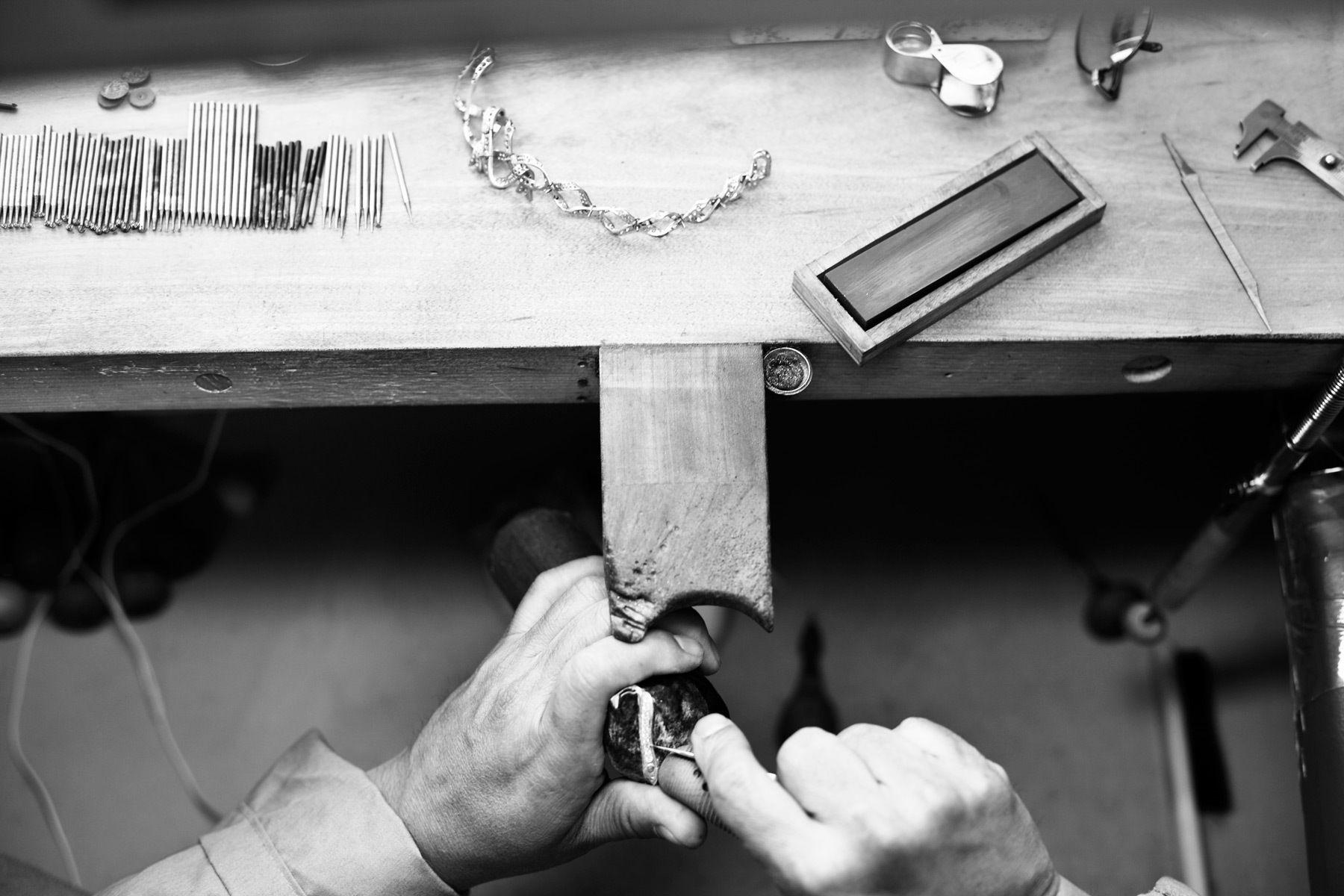 Over the past 7 or 8 years I have worked extensively with Tiffany & Co. in New York photographing the designers and makers of their jewelry. This is a small selection of some of the work, photographed at their workshops in Manhattan.