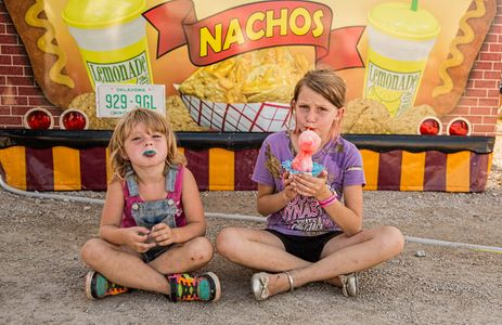 Two Girls Eating Snow Cones