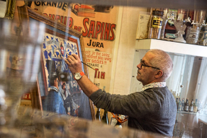 Artis Painting Drinking Absinthe