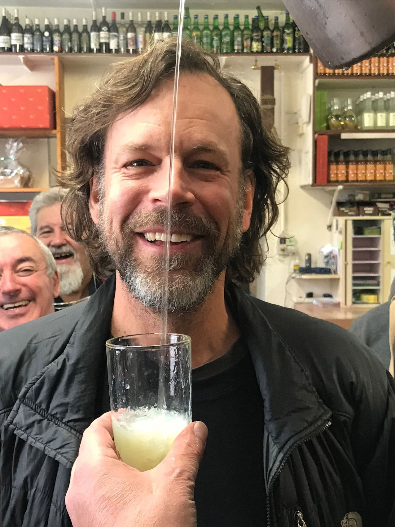 Lou Bopp In Front of an Absinthe Pour