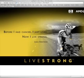 Online Ad for AMD Featuring Lance Armstrong