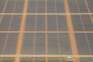 A Graphic Aerial View of a Solar Field