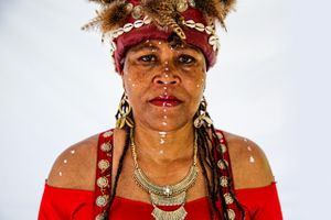 Portrait of Woman From Africa